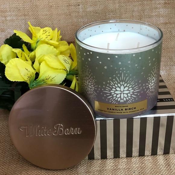 B&BW White Barn Vanilla Birch 3 Wick Candle